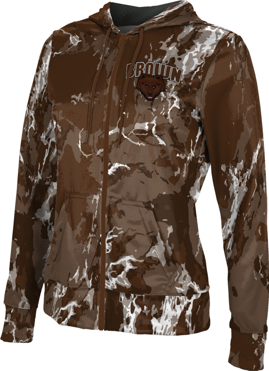 ProSphere Brown University Boys Hoodie Sweatshirt Spray Over