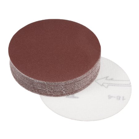 4-Inch Sanding Disc 240 Grits Aluminum Oxide Flocking Back Sandpapers 25 Pcs - image 5 of 5