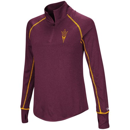 Arizona State Sun Devils Grilling - Womens Arizona State Sun Devils Quarter Zip Pull-over Wind Shirt - S