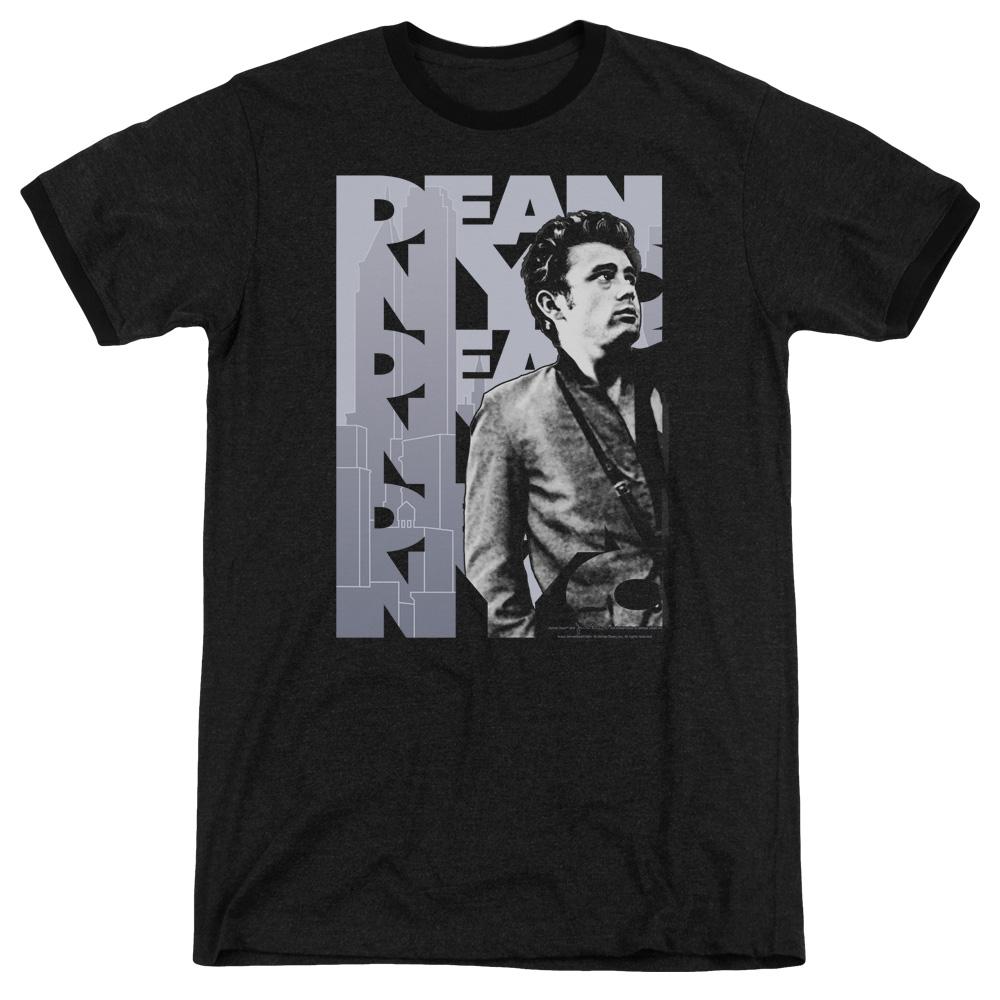 James Dean Nyc Mens Adult Heather Ringer Shirt