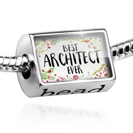 Bead Happy Floral Border Architect Charm Fits All European Bracelets - Junior Architect
