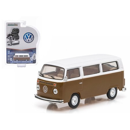 1977 Volkswagen Type 2 Bus Champagne Edition Agate Brown With Atlas White Series 1 Club V Dub 1 64 Diecast By Greenlight