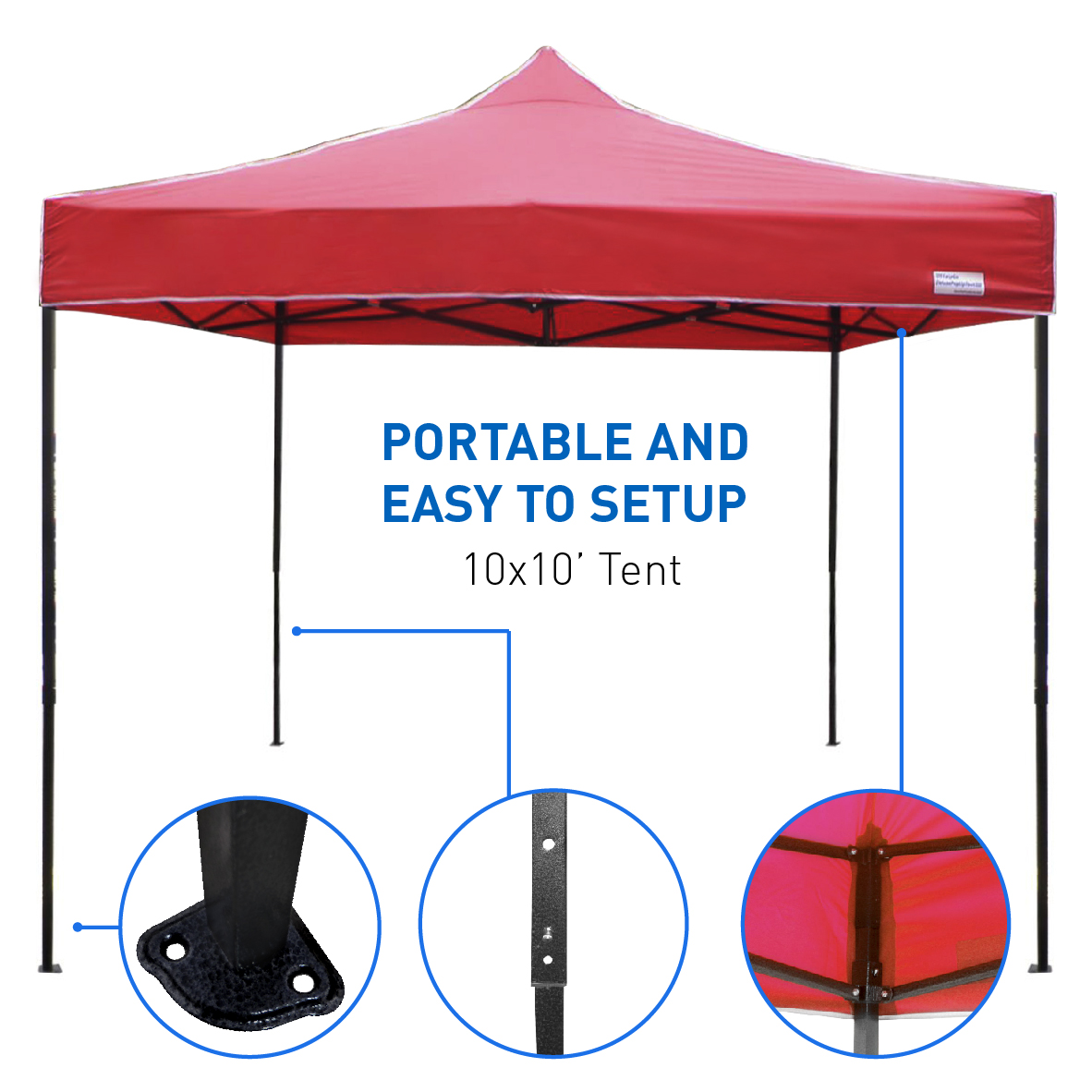 Best Selling 10 x10 Tent - Deluxe Instant Easy Pop-Up Frame - Outdoor