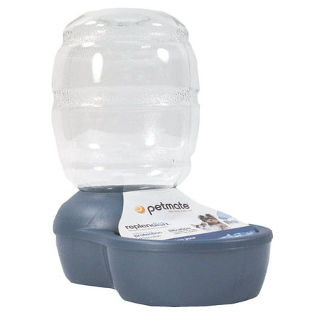 Petmate Pearl Replendish 1 Gallon Waterer With Microban, Peacock Blue
