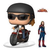 Warp Gadgets Bundle - Funko Pop Ride Marvel Captain Marvel - Carol Danvers On Motorcycle and Figpin - Captain Marvel - Collectible Enamel Pin (2 Items)