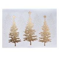 Golden December Christmas Card Set of 18