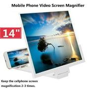 14'' Folding Mobile Phone Screen Magnifier 3D HD Screen Amplifier Stand Bracket