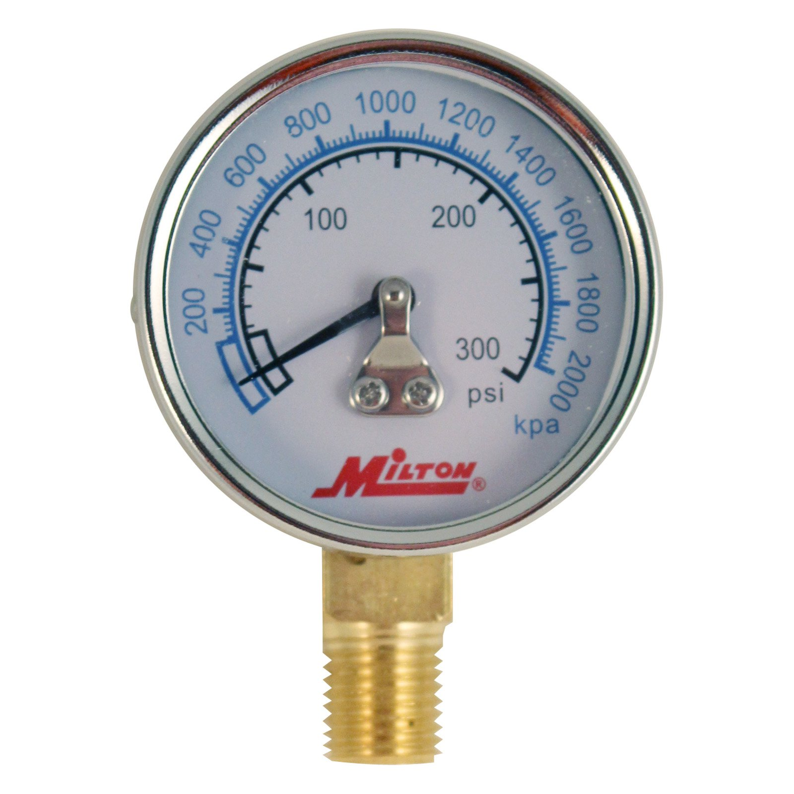 "Milton 1195 1/4"" NPT High Pressure Gage"