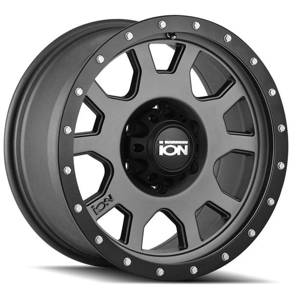 "15"" Inch Ion 135 15x8 5x120.65 -20mm Gunmetal Wheel Rim"