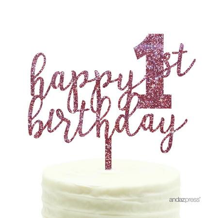 Pink Glitter Cake Topper