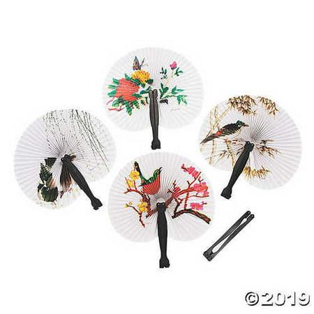 Asian Folding Hand Fan Assortment - Asian Fans