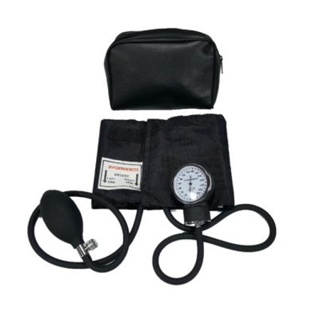 Child Blood Pressure Cuff - Deluxe Aneroid Sphygmomanometer Cuff and Carrying Case Black (Child Blood Pressure)