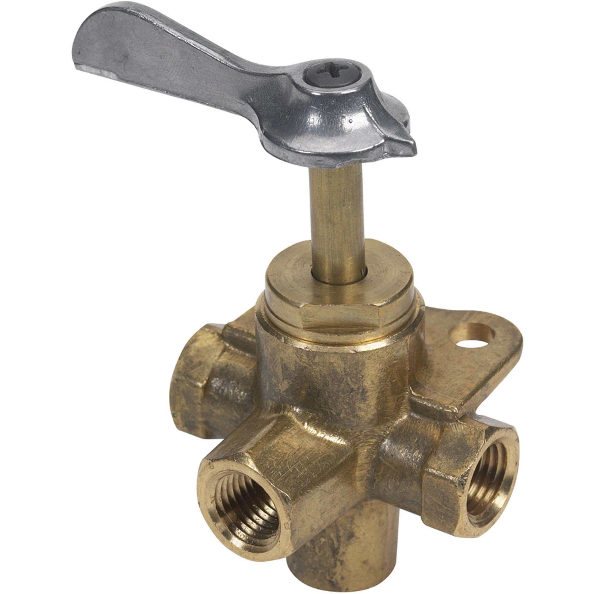 "Moeller 033400-10 Brass 1/4"" FNPT Four Way Valve"