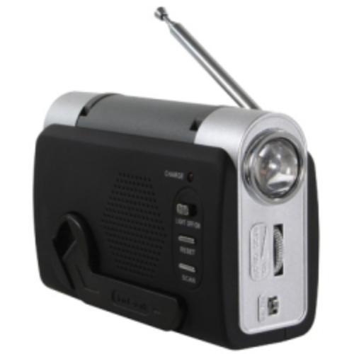 Hand Crank Emergency Radio, With Emergency Alarm, Cell Charger, Led Light, No Batteries Required by Truck N Tow