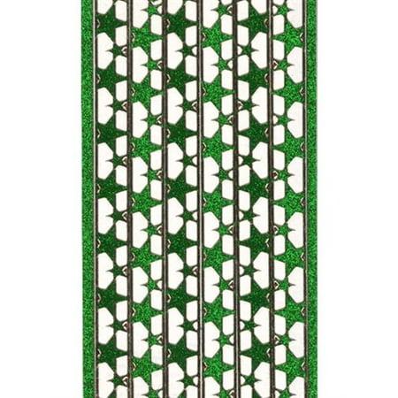 Deco Stickers - Star Border - Glitter Silver Star Glitter Stickers