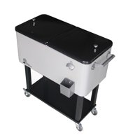 Palm Springs Outdoor 80 Quarts Portable Rolling Cooler Cart Home Party Ice Chest