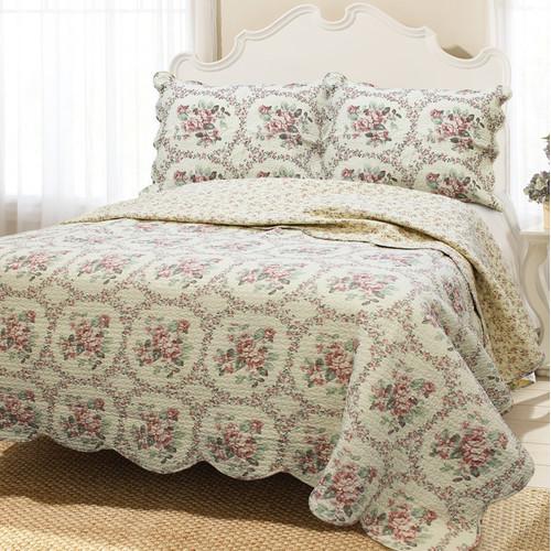 Cozy Line Home Fashion Reminiscent Mood 3 Piece Quilt Set