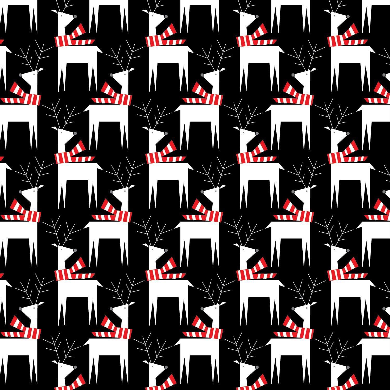 "Jillson & Roberts Bulk Gift Wrap, Dashing Deer, 1/4 Ream 208' x 24"""