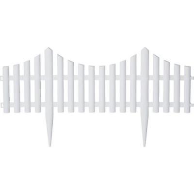 Emsco 36' Picket Garden Resin Fencing - White (Picket Garden Fencing)