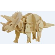 Triceratops - 3D DIY Wooden Dinosaur Walking Puzzle Woodcraft Kit