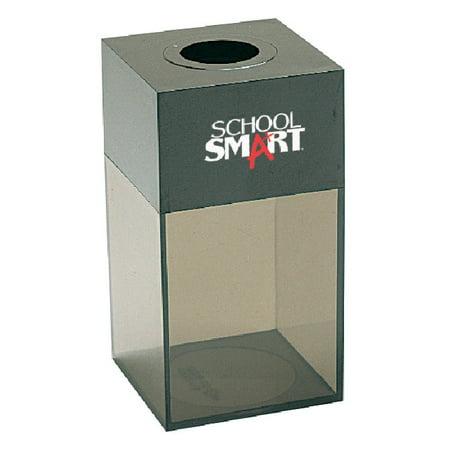 Pencil Dispenser (School Smart Magnetic Paper Clip Dispenser, 1-5/8 in L X 1-5/8 in W X 2-3/4 in H, Smoke Base, Black)