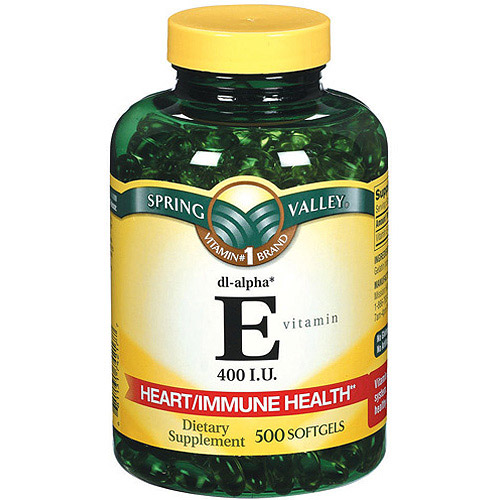 Spring Valley E Vitamin Dietary Supplement 500 ct