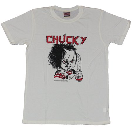 2e2ca956 In My Parents Basement - Child's Play Mens T-Shirt - Evil Chucky Posed With  Knife Drawing Image - Walmart.com