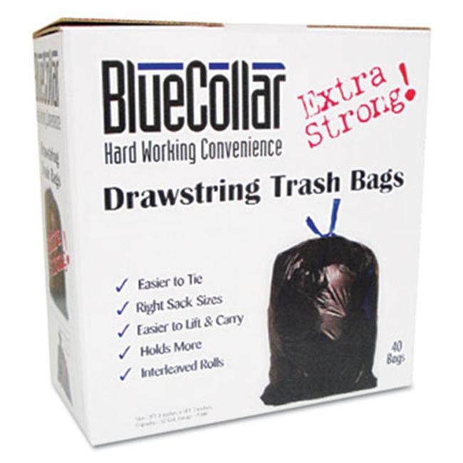 Her N4828EWRC1 Drawstring Trash Bags  13 gal  . 80 mil  24 x 28  White  80/Box