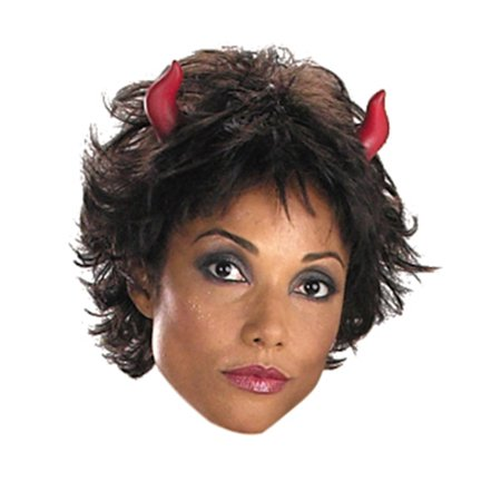 Adults Mens Womens Devil Demon Costume Accessory Short Red Horns - Demon Horns