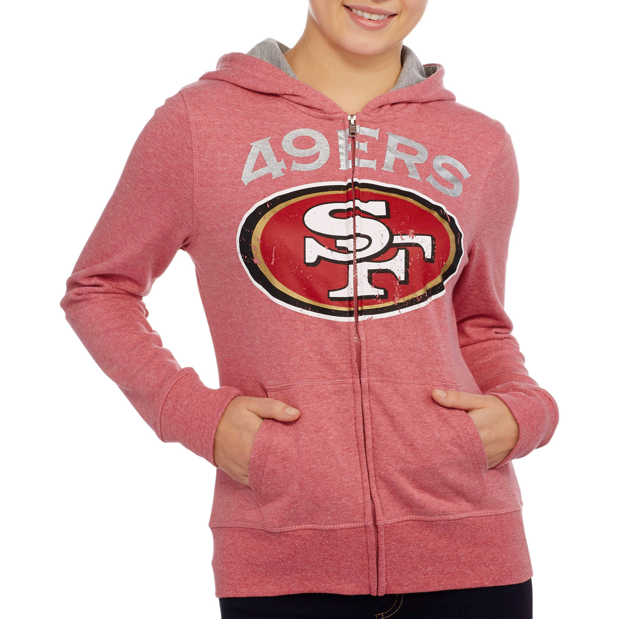 NFL Juniors 49ers French Terry Hooded Fleece