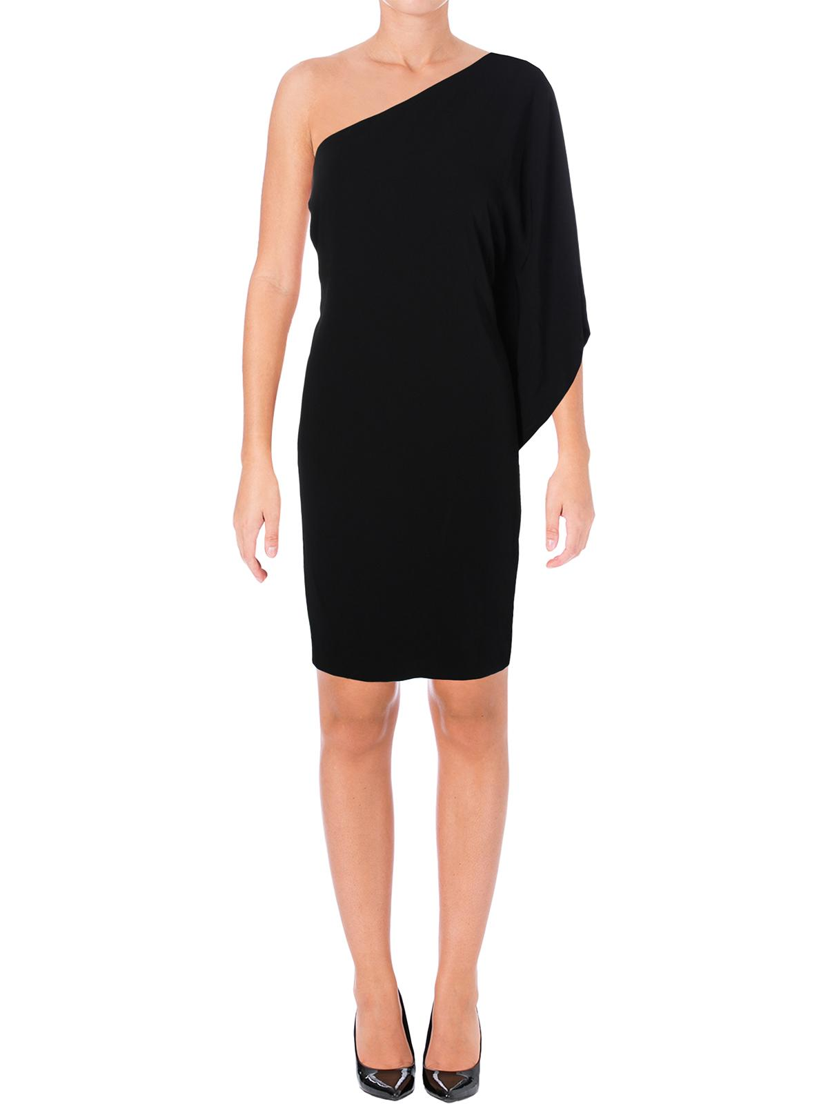 Lauren Ralph Lauren Womens Giuditta Ruffled One Shoulder Cocktail Dress