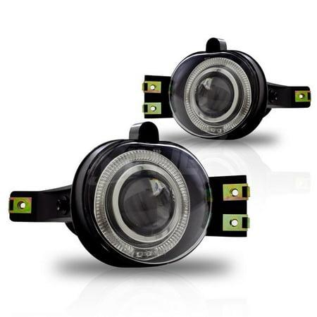Clear Halo Projector Led Fog Light Kit Replacement Fog Light Led For Dodge - Halo Projector Lights