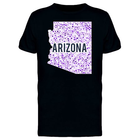 Colourful Dotted Map Of The State Of Arizona. Tee Men's -Image by Shutter
