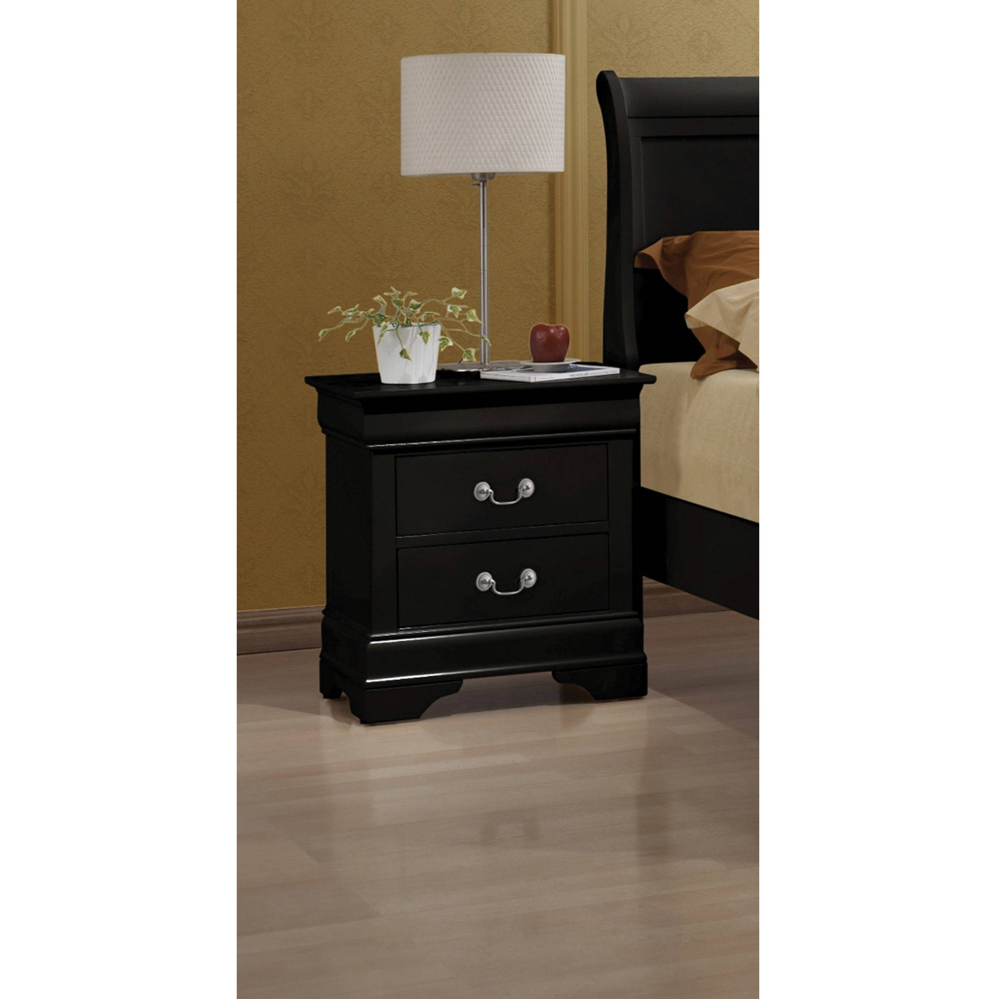 Coaster Company Louis Philippe Collection Nightstand, Black by Coaster Company