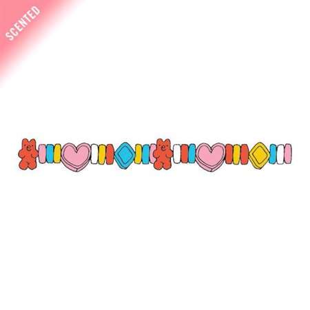 Tattly Temporary Tattoos - Candy Charms - Scented - Set of - Candy Heart Tattoo