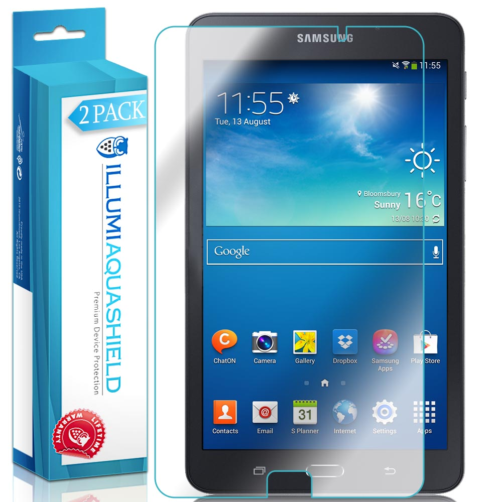 2x iLLumi AquaShield Clear Screen Protector Cover for Samsung Galaxy Tab A 7.0