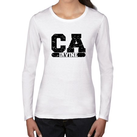 Irvine, California CA Classic City State Sign Women's Long Sleeve T-Shirt