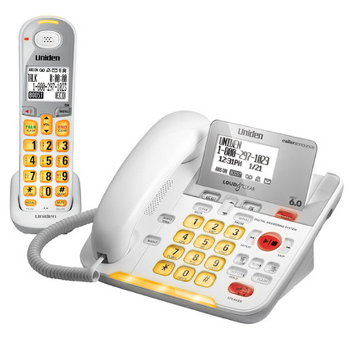 Refurbished Uniden D3098 Big Button Corded/Cordless Amplified Phone w/ LCD Backlit Display