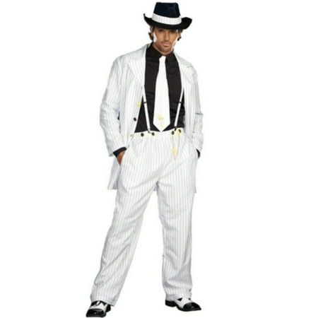 White Zoot Suit Costume (Zoot Suit Men's Adult Halloween)