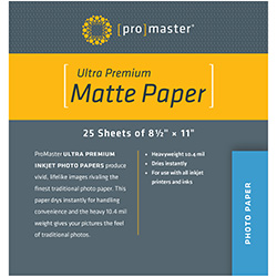 PhotoImage PRO Matte Inkjet Paper ~ 8.5 X 11, 25 sheets