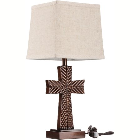 Better homes gardensxc2xae bronze finish symmetrical cross accent lamp