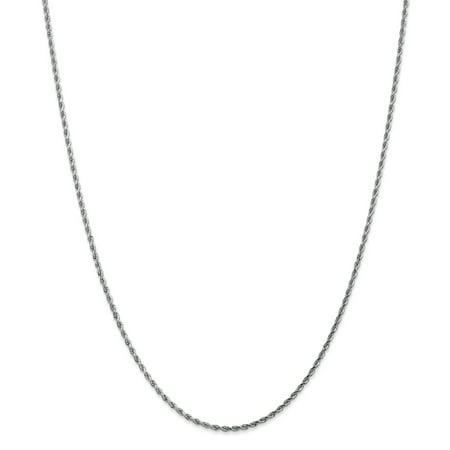 14K White Gold 1.8mm Diamond Cut Rope Chain 14 IN - image 2 of 2