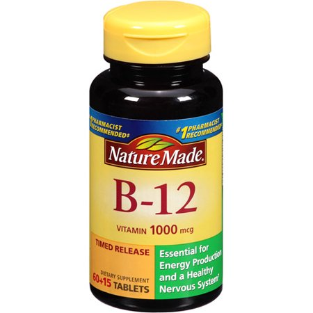 Nature Made Vitamin B-12 Tablets Dietary Supplement, 1000 ...