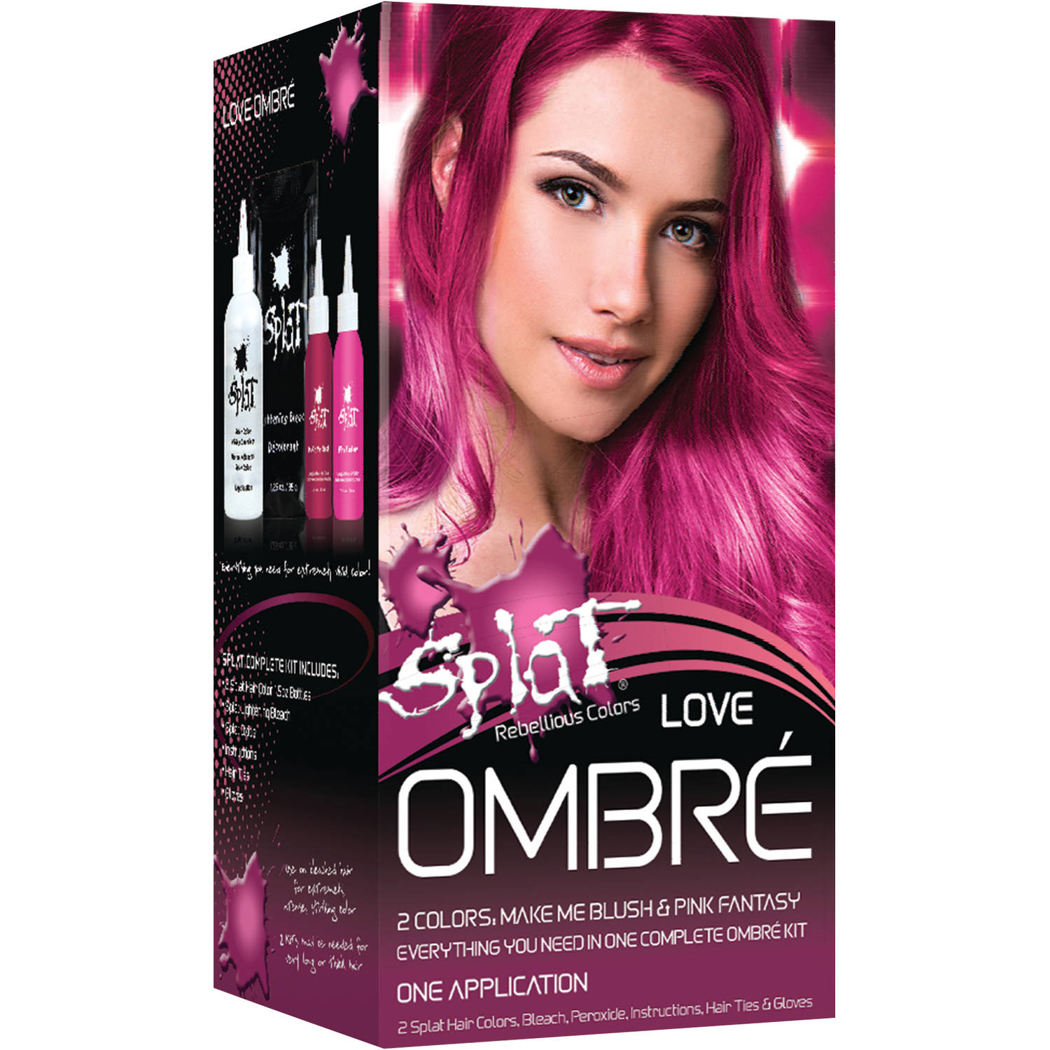 Splat Semi Permanent Bold Ombré Hair Color Kit; Love Ombré