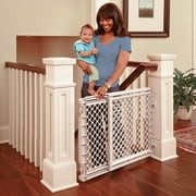 """Toddleroo by North States Heavy Duty Stairway Baby Gate, 27""""- 41"""" Wide, Light Gray"""