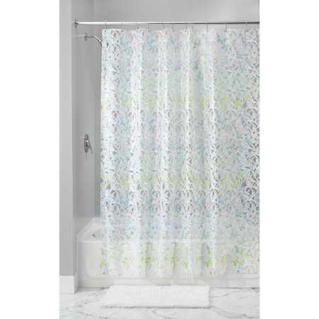 Mia Shower Curtain 72 X White Blue Green By InterDesign Ship