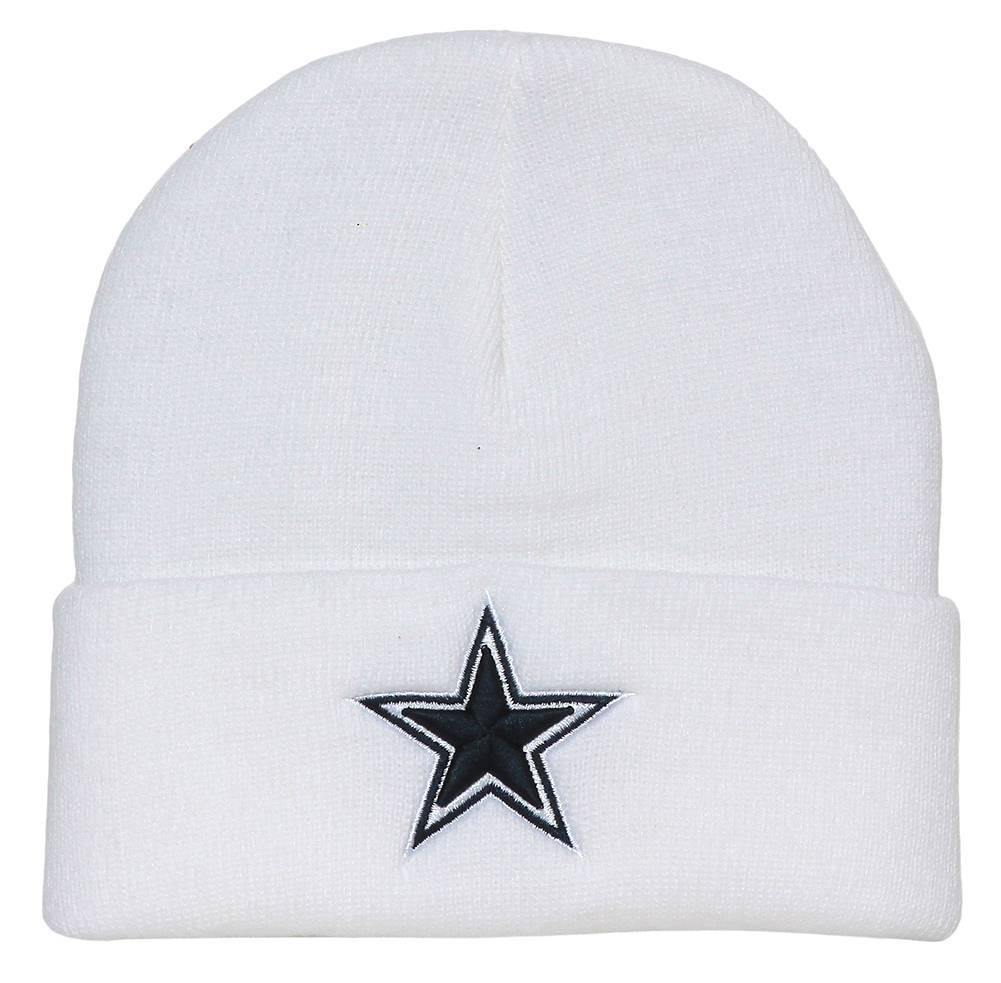 Dallas Cowboys Cuff Knit Beanie Cap - White
