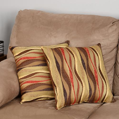 Fox Hill Trading New Wave Brick 17-inch Throw Pillows (Set of 2)