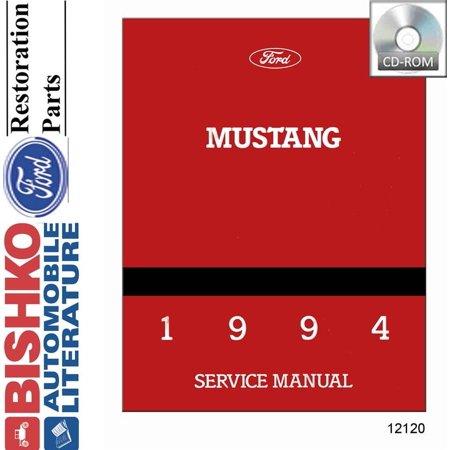 Bishko OEM Digital Repair Maintenance Shop Manual CD for Ford Mustang
