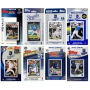CandICollectables ROYALS813TS MLB Kansas City Royals 8 Different Licensed Trading Card Team Sets